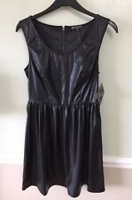 Faux Leather Dress Med