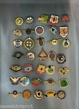 #WW. #10. 35 BOWLING CLUB BADGES, NO CLIPS ON THE BACK