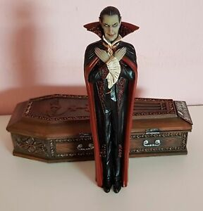 Dracula with tomb Transilvania Vampire action figure collectible resin statue