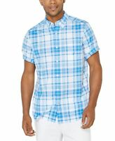 Nautica Mens Shirt Blue Size 2XL Button Down Stretch Classic Fit $49- 321