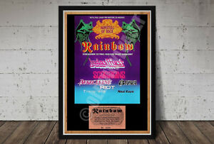 Rainbow Monsters Of Rock Donington UK 1980 + Ticket Poster A3 Size Repro.