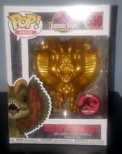 Jurassic Park Metallic Gold Dilophosaurus Pop Vinyl Figure Funko Custom