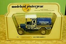 Matchbox Models of Yesteryear Y-3 1912 Ford Model T Express Dairy Truck - New!!