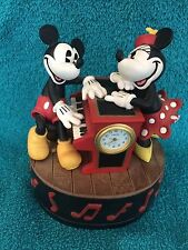 Mickey & Minnie Mouse Disney Piano Music Box Clock