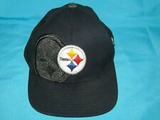 RARE NFL PITTSBURGH STEELERS FITTED CAP HAT - REEBOK ONFIELD EQUIPMENT SIZE S/M
