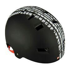 Fischer® Fahrradhelm BMX Track Gr. L/XL Helm Halfpipe Jungs Fahrrad Schwarz