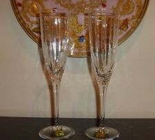 """2 Waterford Marquis Arcadia Fluted Champagne Glasses 9"""""""