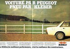PUBLICITE ADVERTISING 027  1980   les pneus Kléber (2p)  & la Peugeot