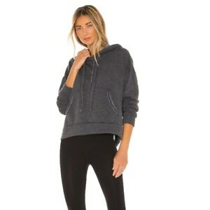 Free People Movement Work It Out Hoodie Soft Raw Edge Detail Slouchy Fit NWT