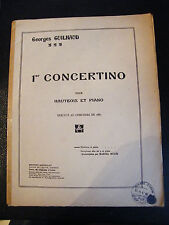 Partition 1er concertino pour Hautbois et Piano Georges Guilhaud