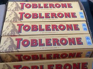 Toblerone Milk 100g Bars 5,9, And 15.Honey Almond Chocolate07/21 Select Quantity