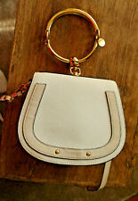 CHLOÉ BAGS FOR WOMEN Nile mimi Leather Gold bracelet HANDBAG WHITE