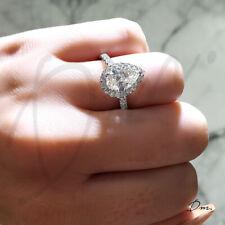 1.60 TCW Natural Pear Cut Halo U-Pave Diamond Diamond Engagement Ring - GIA