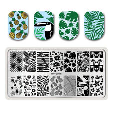 Stamping Template Summer Fruit Leaf Crane Nail Art Image Plate Decor BORN PRETTY