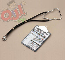 Infirmary Exclusives Modern Stethoscope & Clipboard for Action  Figures 1:6