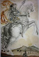 """Salvador Dali """"Don Quixote El Cid"""" LE Litho Facsimile Signature Horse Knight"""