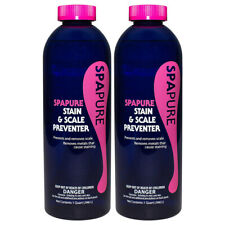 SpaPure Stain & Scale Preventer 1Qt 2 Pack Prevents & Removes Stains From Spas