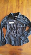 Brown Sugar Black button up collar shirt has marks sz16 BNWT free post D95