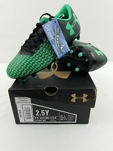 New Youth Under Armour CF Force 3.0 FG-R Jr Soccer Cleats 1278845 Green Size 2.5