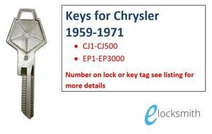 Suits Chrysler Valiant RV1 SV1 AP5 AP6 VC VE VF VG Key Cut to code number