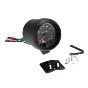 "3.75"" Universal Car Tachometer Gauge Tacho White Inter  Light0-8000RPM X1M4"