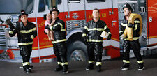 77509B American Diorama Fire Set of 4 Firefighter Feuerwehrleute Polizei 1:24