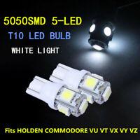 4x White T10 LED Parker Parking Lights Globe For HOLDEN COMMODORE VU VT VX VY VZ