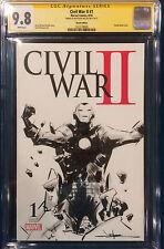 JAE LEE ORIGINAL Sketch Art CGC 9.8 IRON MAN Signed CIVIL WAR II AVENGERS X-MEN