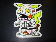"POKEMON PIKACHU MUERTO Art Sticker Print 3.25X4"" DIA DE LOS MUERTOS JOSE PULIDO"