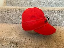 Vintage Deadstock Workwear Red Wool Kromer Blizzard Kap size 7