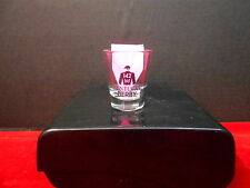 2016 KENTUCKY DERBY 142  1.5 oz  SHOT GLASS, CLEAR WITH EVENT LOGO IN BLACK NEW