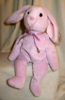 Floppity TY Beanie Baby Lavender Purple Bunny Rabbit MWMT Birthday May 28 1996