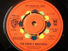 """THE EVERLY BROTHERS - THE PRICE OF LOVE  7"""" VINYL"""