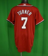 Majestic MLB Youth Washington Nationals Trea Turner Baseball Jersey LOOK L