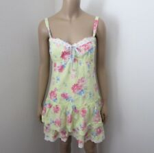 NWT Gilly Hicks by Abercrombie Womens Floral Dress Size Medium Lime Green