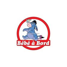 Decal Sticker vehicle car Baby à bord Eeyore 16x16cm ref 3570