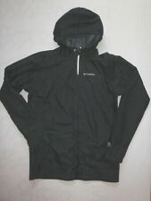 Columbia XL boy's long black mesh lined raincoat jacket nylon