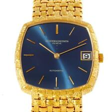 Vacheron Constantin Automatic Yellow Gold Blue Dial Watch 7391 Box Papers