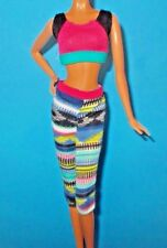 SPARKLE GIRLZ BARBIE DOLL CLOTHES SPORTY WORKOUT OUTFIT ALSO FITS MADE 2 MOVE