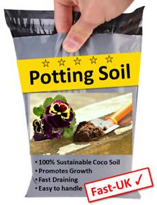 Potting Soil Organic Blocks for House Plants & Flowers - Natural Compost - 1-22L