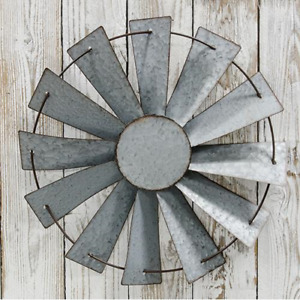 Full Windmill Galvanized Metal Country Farmhouse Wall Decor