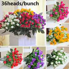 Handmade Bridal Bouquet Wedding Decoration Small Bud Rose Artificial Flowers