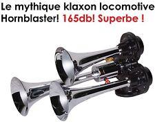 HORNBLASTER SUPERBE KLAXON 12V 3 TROMPES PUISSANT 165db 4X4 HDJ PATROL JEEP L200