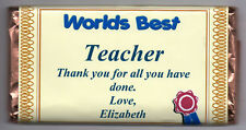 PERSONALISED GIFT TEACHER/PUPIL LARGE CHOCOLATE BAR