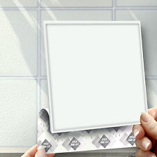 """8 Stick and Go White 6"""" Self Adhesive Wall Tiles for Kitchens or Bathrooms"""