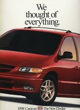 1998 Dodge Caravan and Grand 26-page Original Van Sales Brochure Catalog