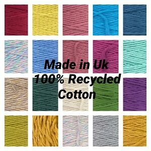 39 New Colours 3mm - 4mm Premium Single Twisted Cotton Cord Craft Macrame DIY