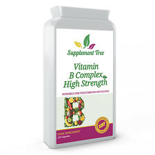 Vitamin B Complex EXTRA HIGH SUPER STRENGTH with PABA, 120 Capsules - Vegans