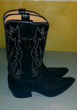 Justin Genuine Lizard Cowboy Western  Boots 7.5 AA Hand Lasted   Style V 1554
