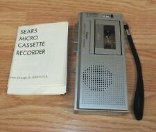Genuine Vintage Sears (304 21710150) 2 Speed Micro Cassette Recorder *Read*